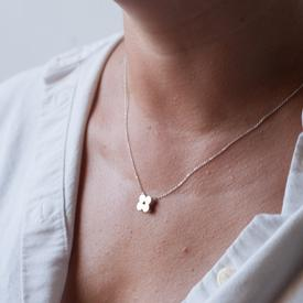 Clover Necklace - Sterling Silver