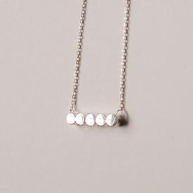 Circle Row Necklace - Sterling Silver STERLING_SILVER