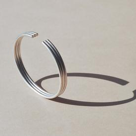 Three Hoops Bracelet - Sterling Silver