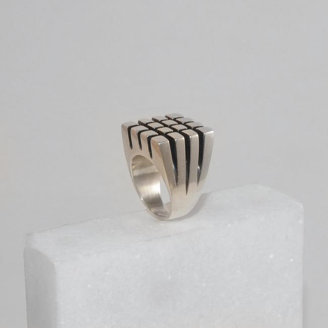 Small Squares Ring - Sterling Silver