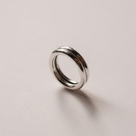 Double Ring - Sterling Silver