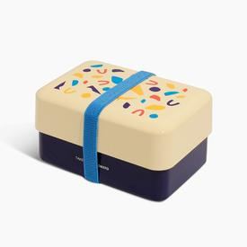 Takenaka x Poketo Bento Box - Ivory Navy