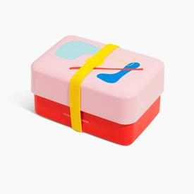 Takenaka x Poketo Bento Box - Pink, Red, Yellow