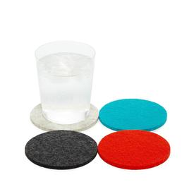 Bierfilzl Round Wool Coasters Set of 4 - Midcentury