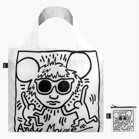 Keith Haring Tote Bag - Andy Mouse WHITE_BLACK