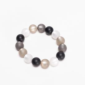 Bracelet Spheres - Black, White, Grey