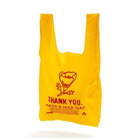 Thank You Poppy Tote - Yellow and Red