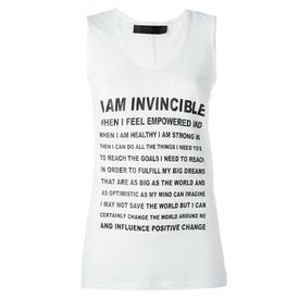I am Invincible Sleeveless Tee Shirt
