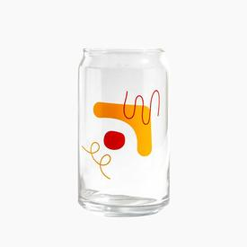 Poketo Drinking Glass - Yellow Red