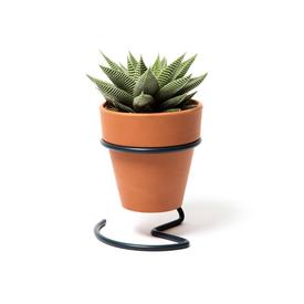 Potted Plant Wire Holder - Slate Grey