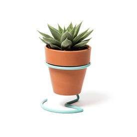 Potted Plant Wire Holder - Light Blue