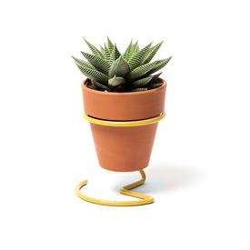 Potted Plant Wire Holder - Yellow YELLOW