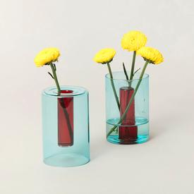 Mini Reversible Vase - Red Blue