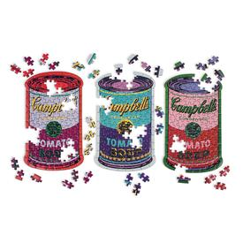 Andy Warhol Soup Cans Set of 3 Shaped Puzzles in Tins