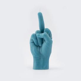 Middle Finger Candle - Blue