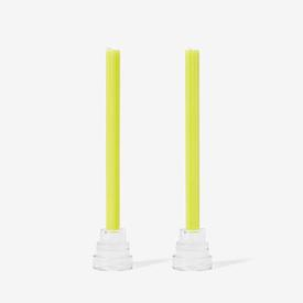 Taper Candles Set of 2 - Yellow