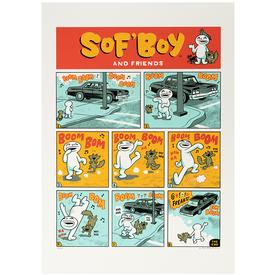 Limited Sof'Boy and Friends Signed Print SILKSCREEN
