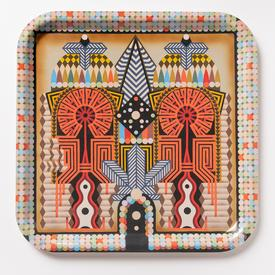 Edie Fake Double Keyhole Tray SQUARE