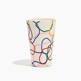 Bamboo Cups Set of 4 - Outline MULTI