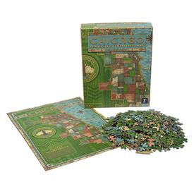 Chicago Prairie Style Stained Glass Neighborhood Puzzle