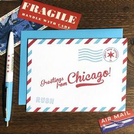 Chicago Airmail Holiday Card Box set of 6
