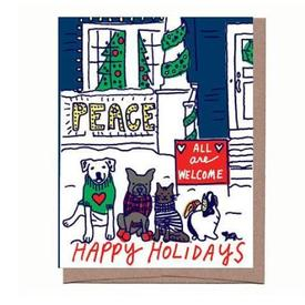 All Are Welcome Holiday Cards Set of 8