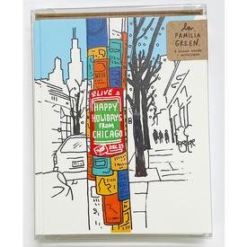 Chicago Street Flyers Holiday Cards Set of 8