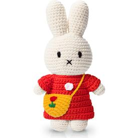 Miffy and Her Red Dress and Tulip Bag Plush