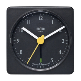 Braun Square Alarm Clock BLACK