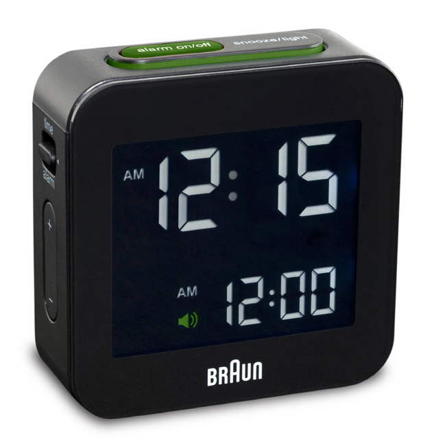 Black Square Digital Alarm Clock
