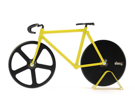 Fixie Pizza Cutter - Black and Yellow