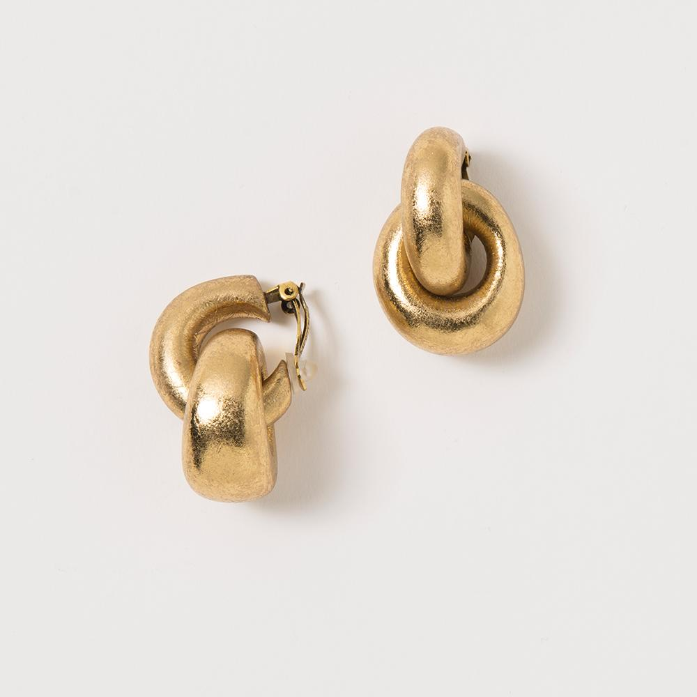Gold Foil Loop Earrings