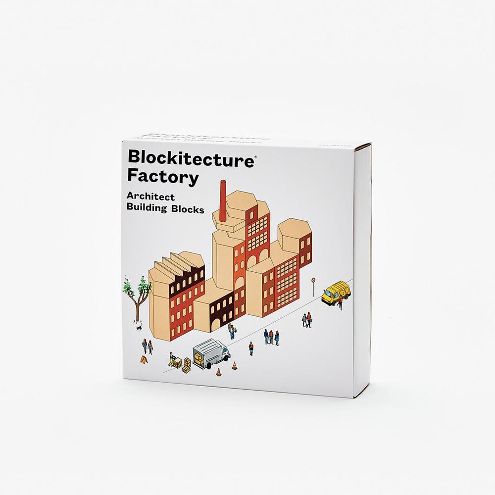 Blockitecture Factory Wood Toy Set