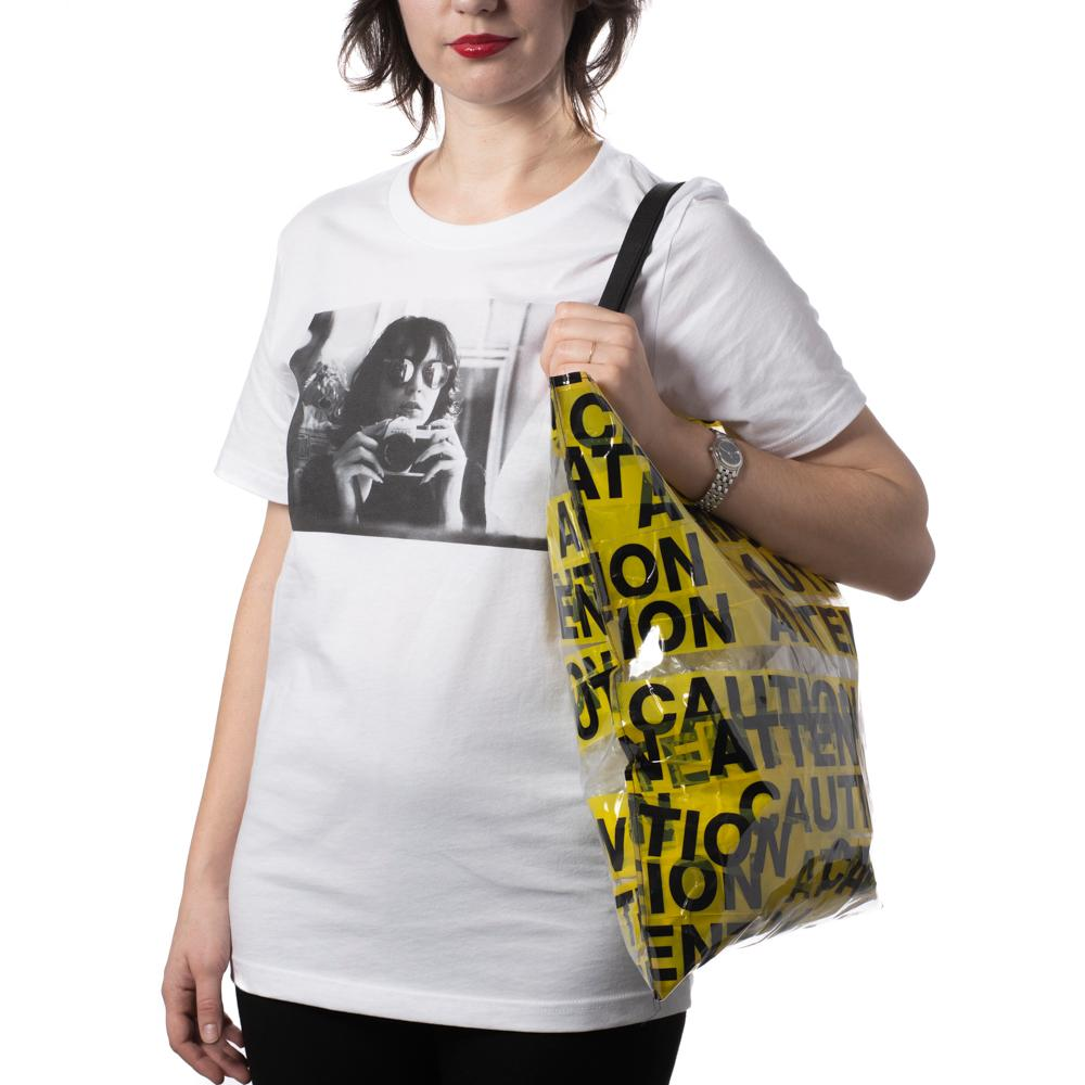 Caution And Attention Tote - Flat