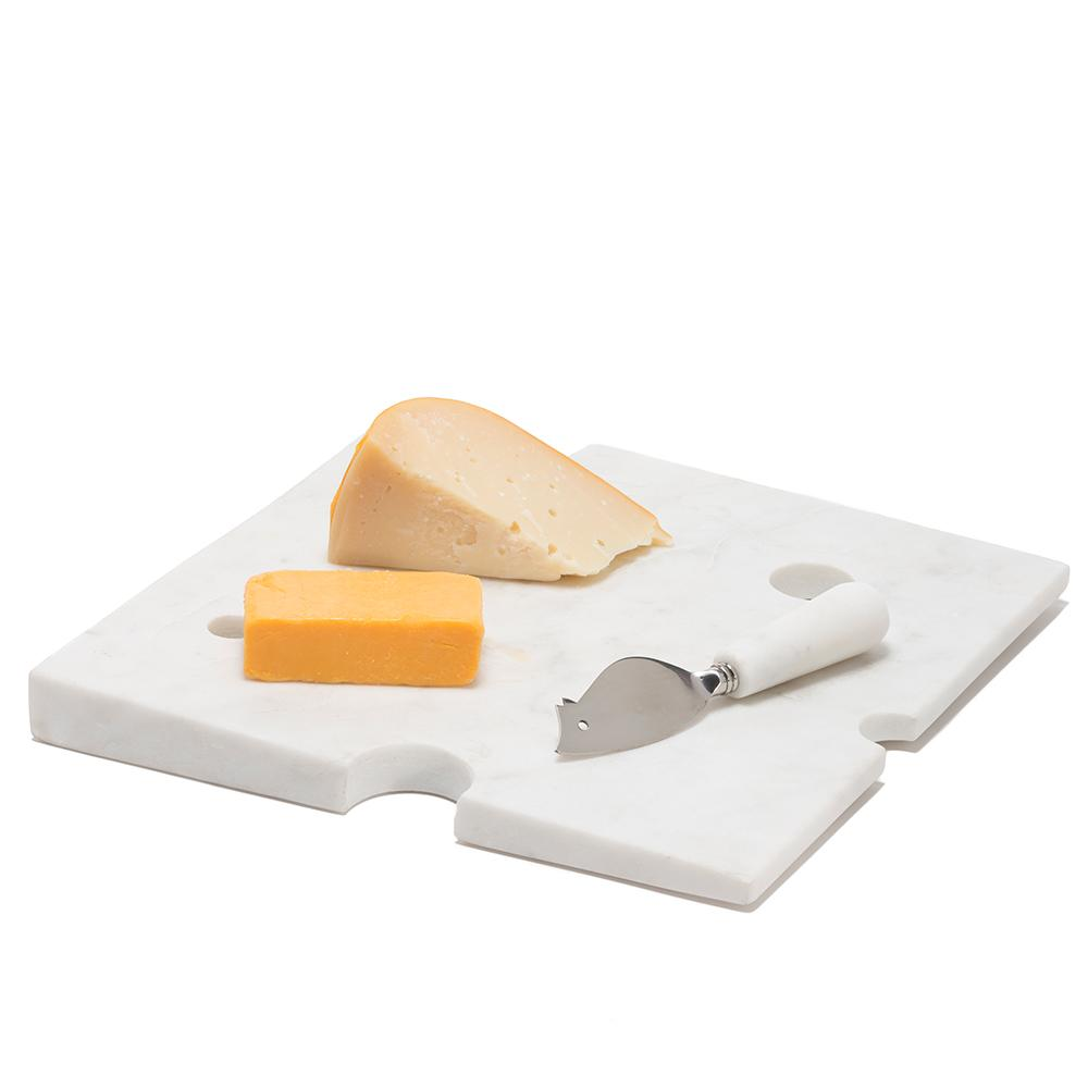 Hunk Of Cheeseboard And Mouse Knife