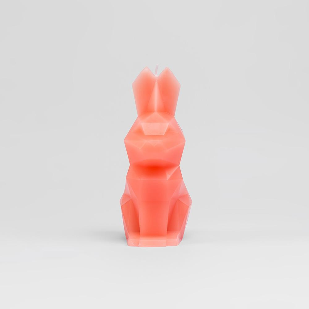 Hoppa Bunny Shaped Candle - Coral