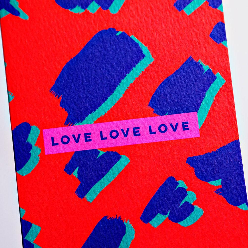 Love Repeated Greeting Card