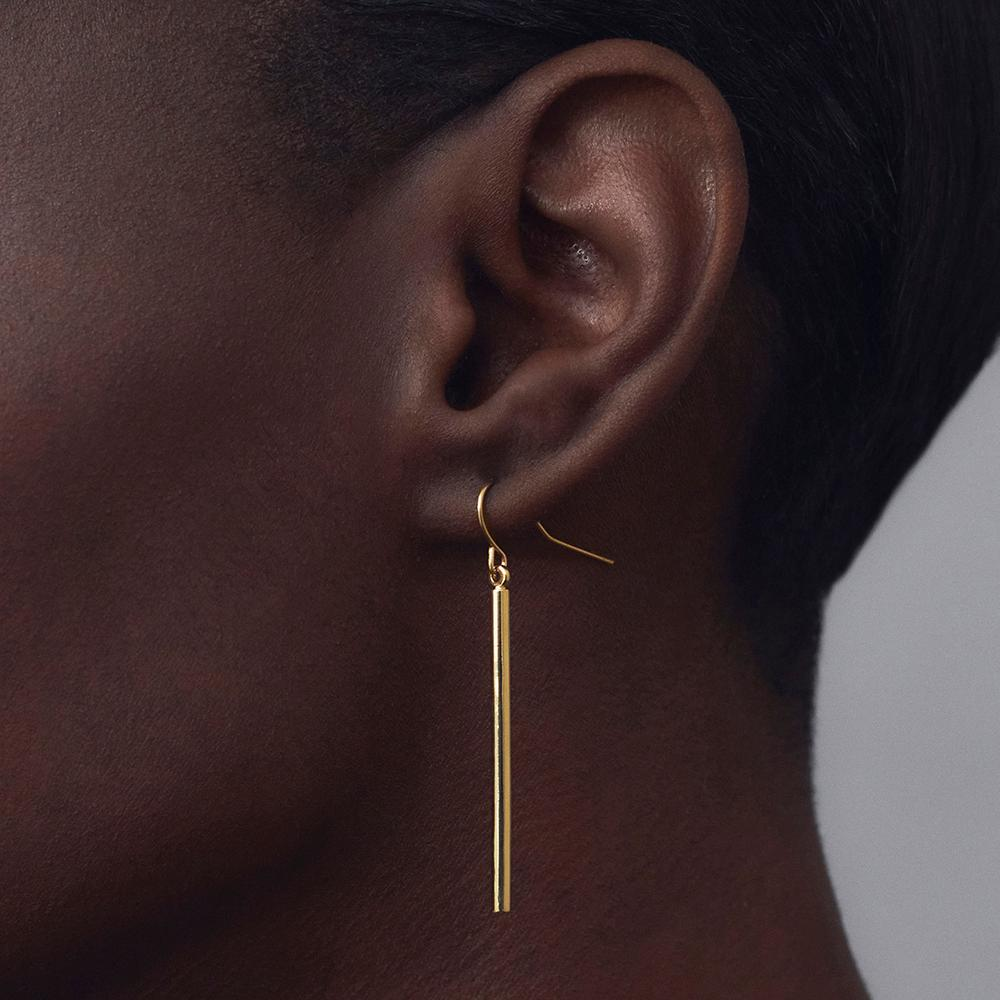 Bar Drop Earrings - Short