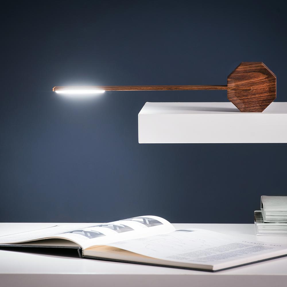 Octagon One Portable Desk Lamp - Walnut