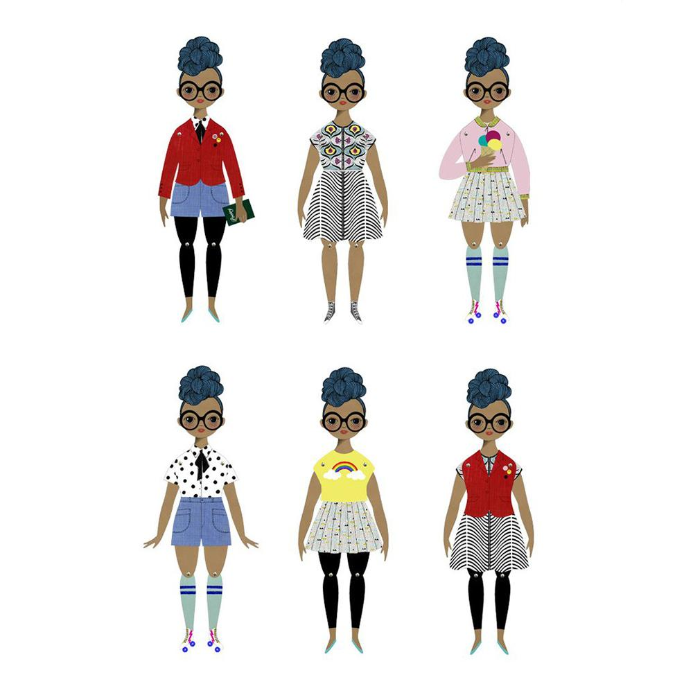 Rosemarie Paper Doll Kit