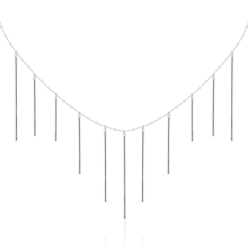 Cascading Bar Necklace - Silver