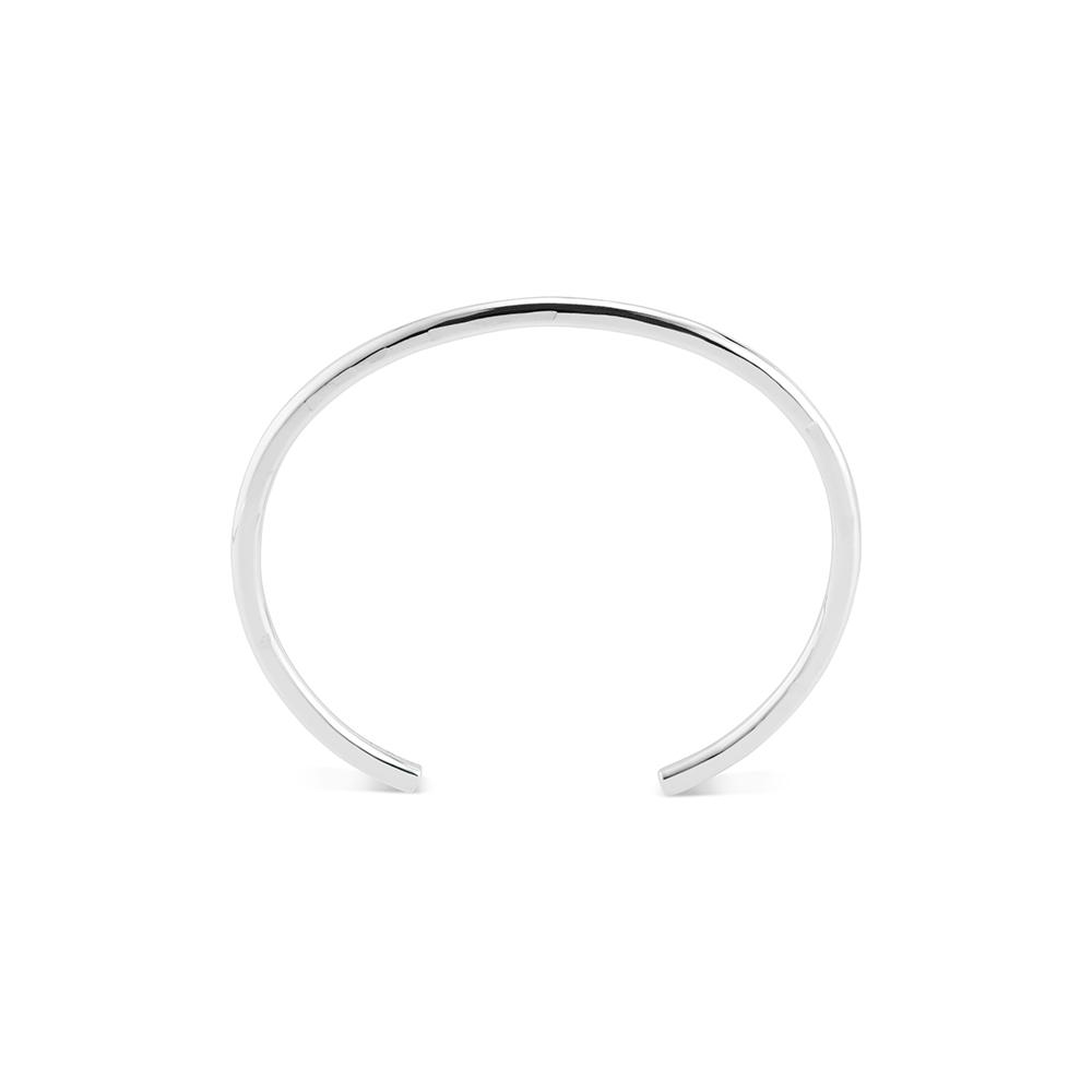 Crescent Bangle Bracelets Set Of 3 - Silver