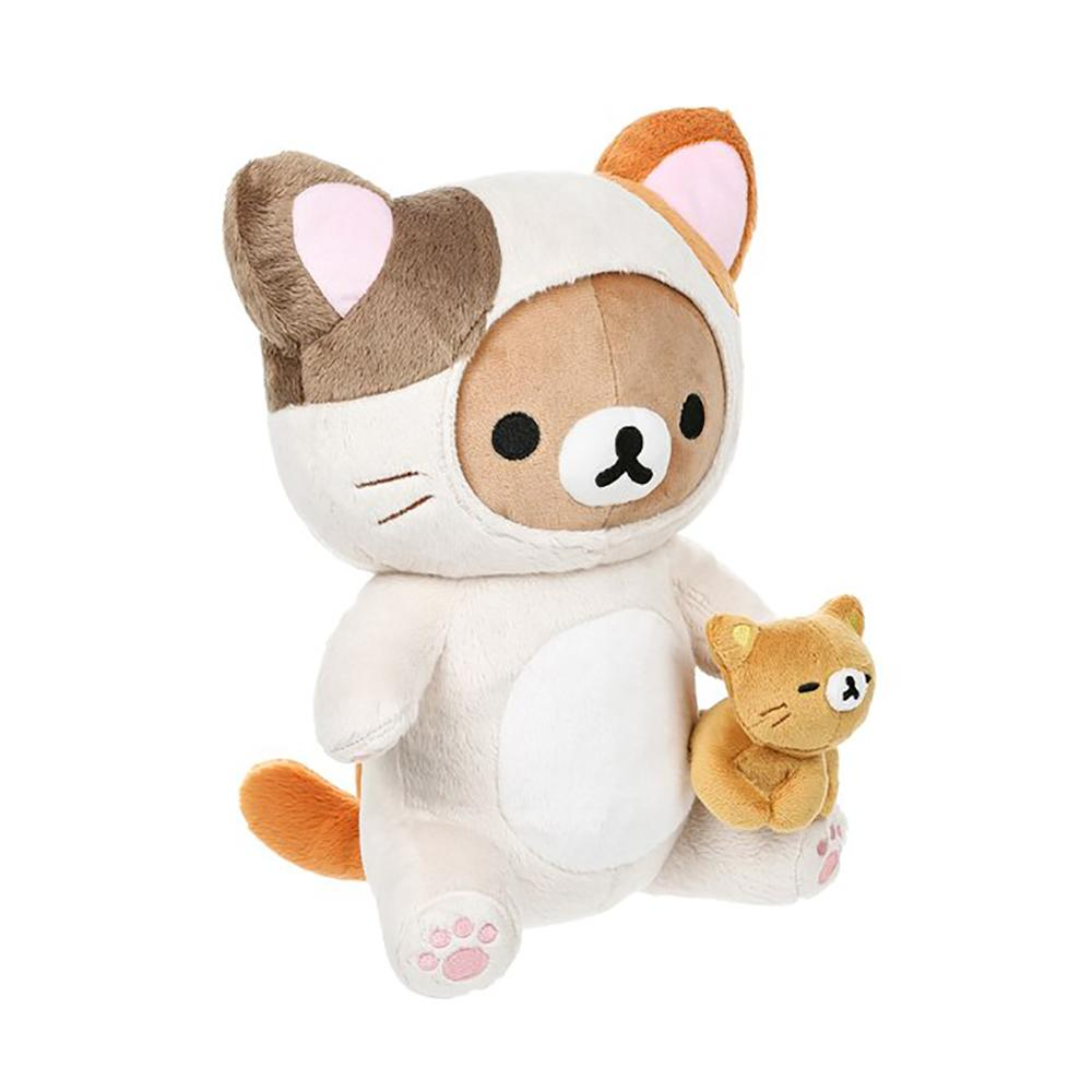 Rilakkuma Dressed As Cat Playing With Kitty Plush