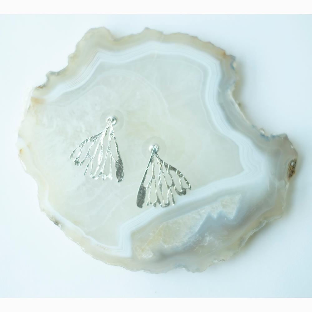 Edge Of The Earth - Sterling Silver Wing Post Earrings
