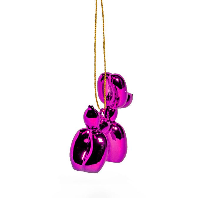 Balloon Puppy Ornament - Magenta
