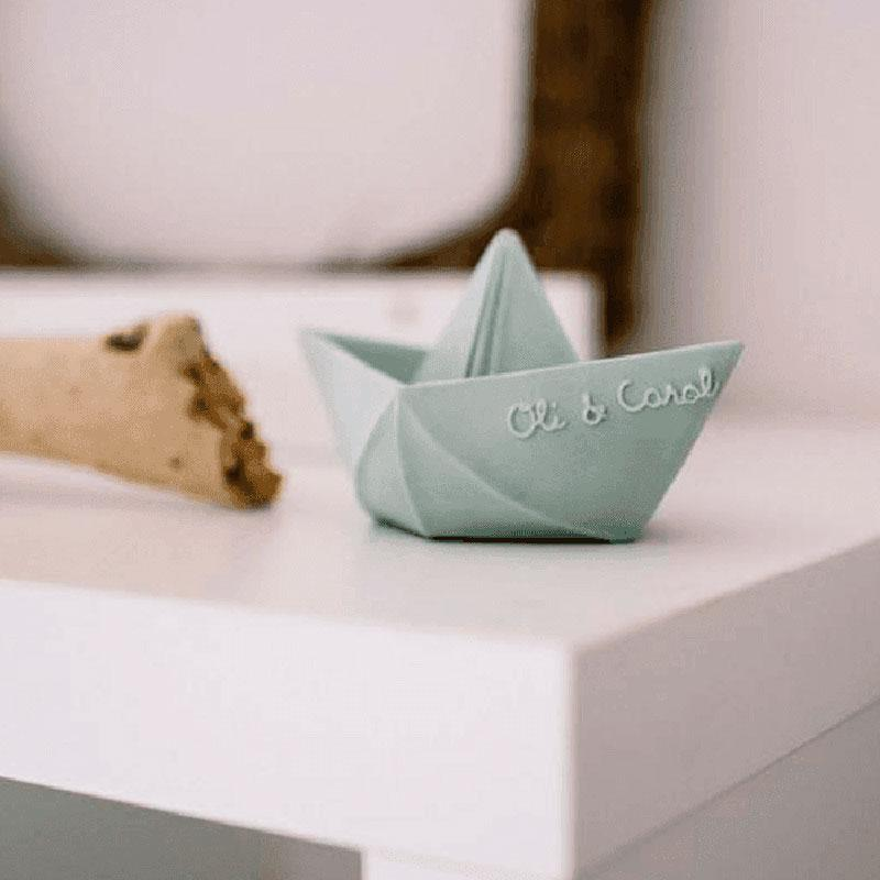 Origami Boat Teether Toy - Mint
