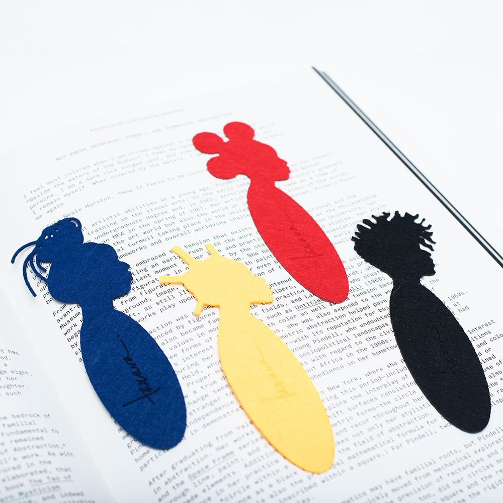 Crown Act Celebration Bookmark Set Assorted - Black, Red, Yellow, Blue