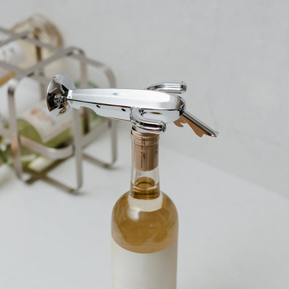 Cactus Corkscrew, Bottle Opener And Foil Cutter