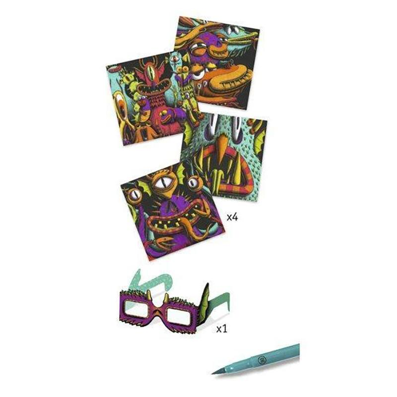 Funny Freaks 3d Felt Tip Art Kit