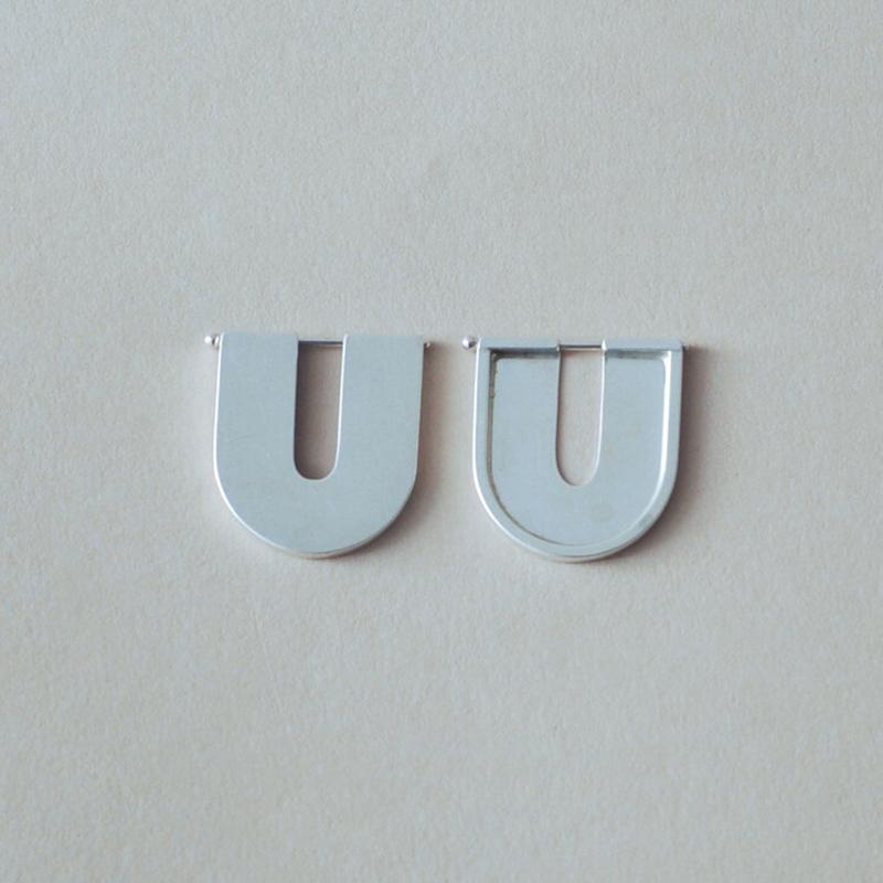 The Small U Earrings - Sterling Silver